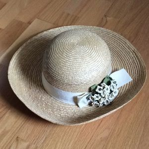 Pretty NORDSTROM Italian Straw Hat